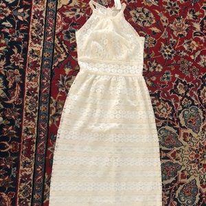 Max Studio Two-Tone Lace Maxi Dress